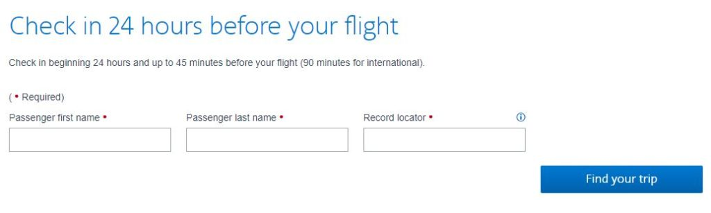 American Airlines check-in